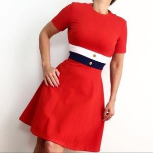 VINTAGE 60s DRESS MOD SHIFT COLOR BLOCK